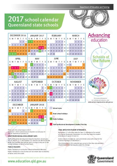qld state school calendar choices family day care
