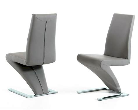 modern grey dining chair 44d034 gry set of 2