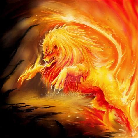 Warrior Cat Desktop Wallpaper Fire Lion By Daelyth On Deviantart