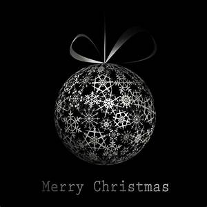 Abstract Silver Christmas Tree On Black Background Stock ...