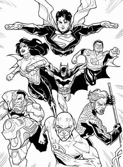 Coloring Justice Dc League Comic Leauge Superhero