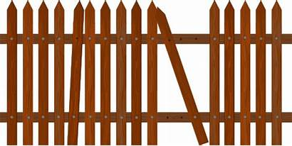 Broken Fence Clipart Picket I2clipart Domain مكسور