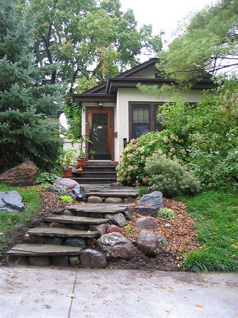 rustic exterior stair design backyard  patios