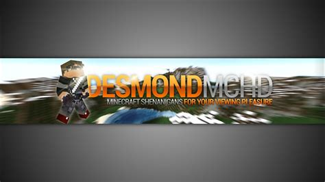 gimp minecraft youtube banner template  photoshop