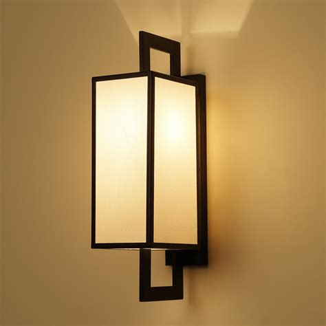 chinese classic cloth wall light sconce living room restaurant toilet teahouse room aisle