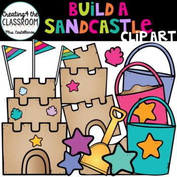 build  sandcastle clip art summer clip art  creating