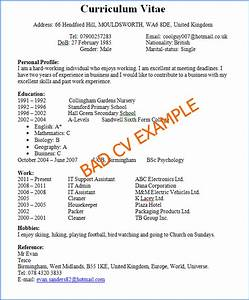 bad cv example With example of a good cv