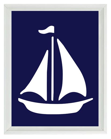 sailboat wall decor nursery sailboat wall print navy blue white nautical nursery