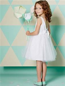 robe de ceremonie en tulle et satin de coton blancdore With robe fillette ceremonie