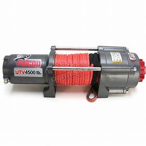 Falcon 4500 Lb  Winch W  Synthetic Rope