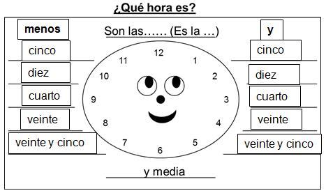 Printables La Hora Worksheet Mywcct Thousands Of Printable Activities