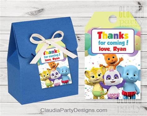 word party favor tags claudia party designs