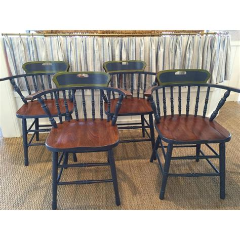 captains dining chairs set   chairish