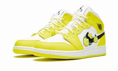 Jordan Yellow Dynamic Mid Floral Gs Air