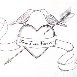 Heart with Arrow Drawing
