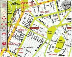 Mexico City Neighborhood Map