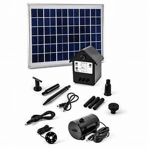 Pompe Pour Jet D Eau Fontaine : pompe solaire jet d 39 eau batterie et leds 8 w 800l h ~ Premium-room.com Idées de Décoration