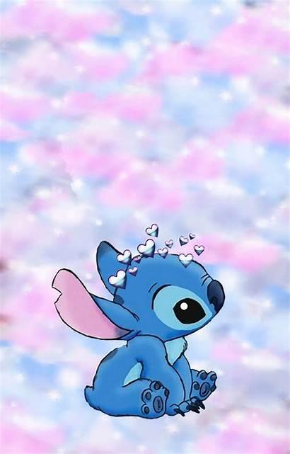 Stitch Aesthetic Wallpapers Cartoon Disney Iphone Lilo