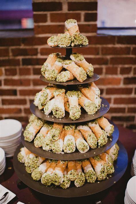 Cannoli Tower Italian Wedding Cakes Traditional