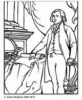 Madison Coloring James Hamilton Alexander Colouring Maddison Printables States United Presidents President Usa Go Popular Votos sketch template