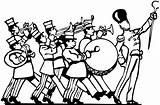 Marching Clipart Parade Band Cliparts Clip Library sketch template