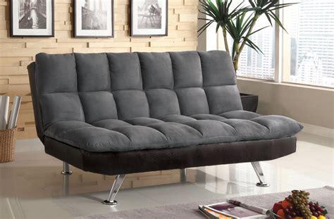 Nando Gray Microfiber Futon Sofa Bed Orange County