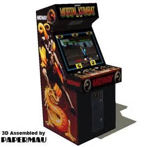 Mortal Kombat Arcade Machine Uk by Papermau 1992 S Mortal Kombat Arcade Paper Model By