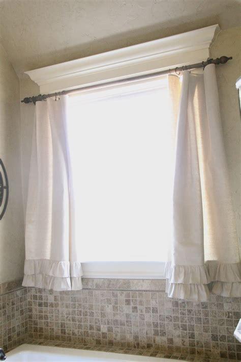diy ruffle drop cloth curtains shanty  chic