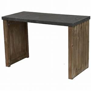 Console De Cuisine : table bois plateau zinc great table manger en bois blanchi l plateau zinc tiroirs verneuil with ~ Teatrodelosmanantiales.com Idées de Décoration