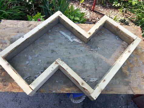 hometalk diy chevron inspired concrete garden bench
