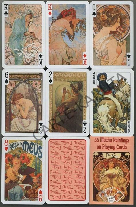 playing cards featuring   paintings  alphonse
