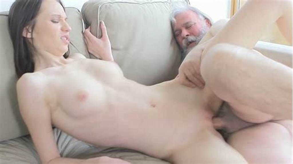 #Adorable #Brunette #Teen #With #Pale #Skin #Sucks #Old #Cock #And