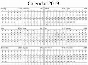 Calender In Excel 2019 Editable Calendar Excel Free Printable Planner