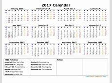 2017 Calendar Start With Monday Calendar Template 2018