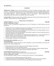 Executive Administrative Resume by Executive Assistant Resume 7 Free Word Pdf Documents
