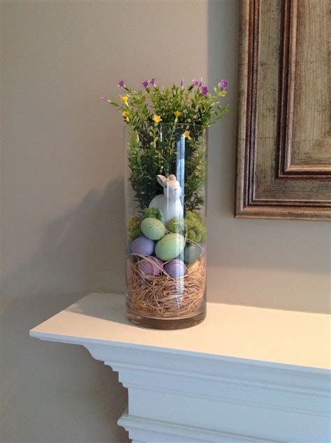 Vase Decoration Ideas - hurricane glass vase filler for and easter on the