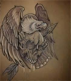 Eagle with Skull Tattoo