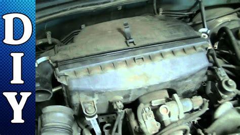 remove  replace engine air filter subaru