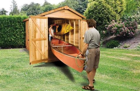boat sheds paddle board kayak shed canoe storage sheds diy plans cedarshed usa