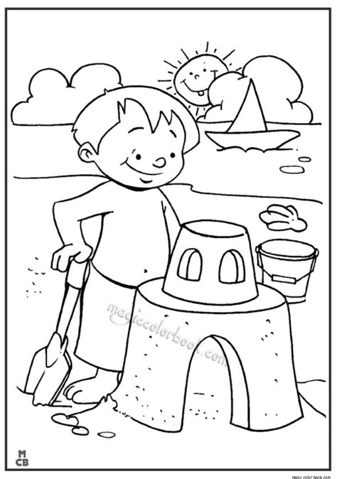 summer coloring pages  kidspng