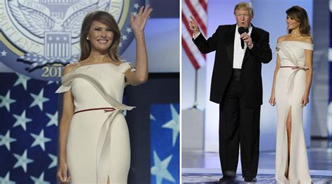 Melania Trump Looks Like A Vision In White At Trump S Inaugural Ball The Indian Express
