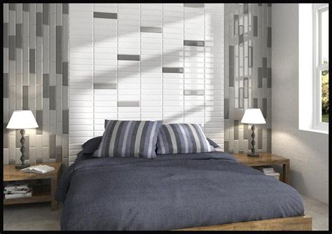 subway tile trends bedroom headboard feature wall here