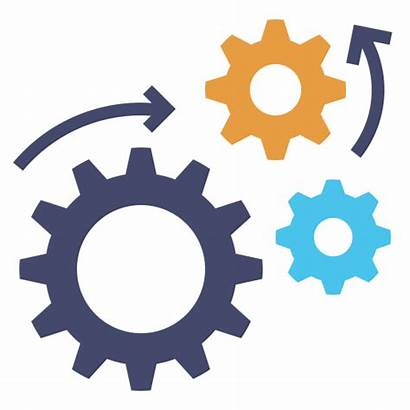 Engineering Automation Processing Icon Gears Icons Machine
