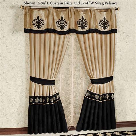 Curtains Drapes - onyx empire window treatment