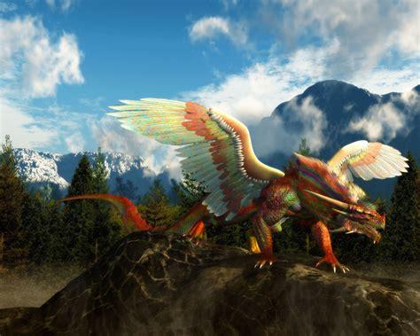rainbow dragon computer wallpapers desktop backgrounds