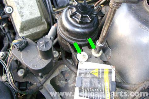 bmw   series power steering reservoir removal       pelican