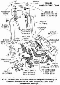 1968-70 Ignition Shielding - Diagram View