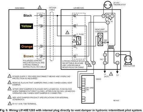 i a new aquastat type l8148e the thermistor and