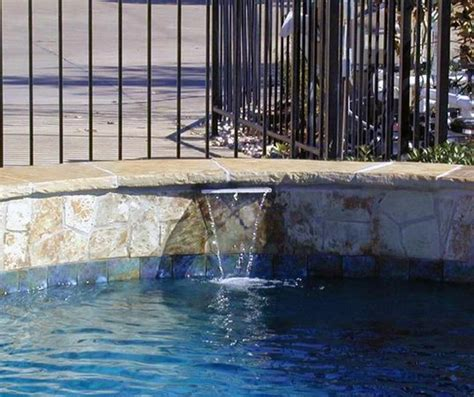 Pool Waterline Tile Ideas by Waterline Tile And Flagstone Pool Ideas