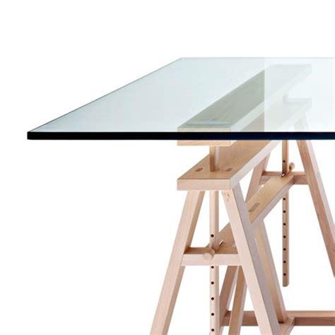 table bureau en verre teatro table magis plateau verre table haute